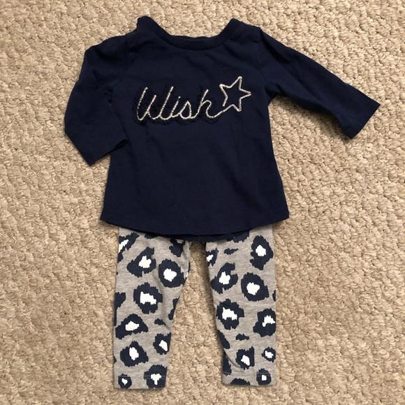 a76d921aa Carter's Matching Sets | Carters Baby Girl Navy Wish Leopard Print ...